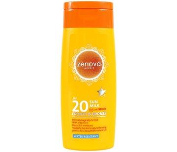 Zenova zonnemelk Protect & Bronze SPF 20 | 200 ml