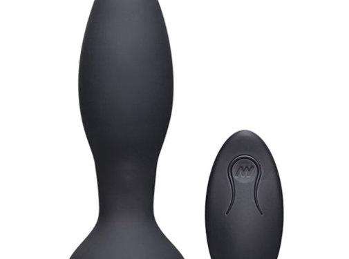 A-Play Rimmer Experienced Vibrerende en Roterende Buttplug - Zwart