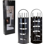 Home&Styling Openhaardset RVS zwart - 5 delig