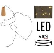 Kurk met 8 LED lampjes - 6 stuks