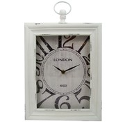 "Home&Styling Home & Styling Wand / tafelklok ""London"" 30x24x6 (wit)"