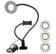 Soundlogic Selfie LED Light - Ringlamp met Telefoonhouder en Tafelklem