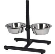 Dogs Collection H-Standaard met RVS voerbakken van 25cm