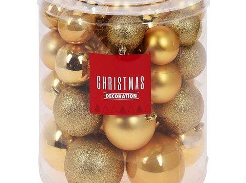 Christmas Decoration Kerstballenset - 44 stuks plastic - goud