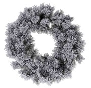 Ceruzo Kerstkrans - groen met sneeuw - 50 cm