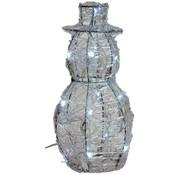 DecorativeLighting Acryl sneeuwman 25cm met 16 LED's