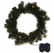 DecorativeLighting Kerstkrans 35cm - met verlichting en timer