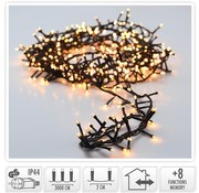 Micro Cluster 1500 LED's - 30 meter - warm wit