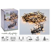 Micro Cluster 1000 LED's - 20 meter - warm wit