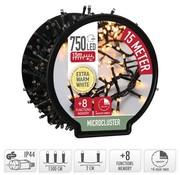 DecorativeLighting Micro Cluster met Haspel - 750 LED - 15 meter - met timer - extra warm wit