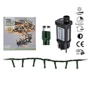 DecorativeLighting Micro Cluster - 1200 LED - 24m - met timer en dimmer - extra warm wit