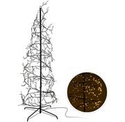 Home@Style Decoration Kerstboom spiraal 150cm - 360 LED - zwart