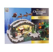 Ceruzo Kersttafereel - Kerstman in Slee