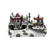 Ceruzo Kerstdorp - Draaimolen - met beweging en verlichting