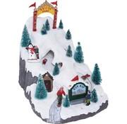 Ceruzo Kersttafereel Skipark - met verlichting en beweging