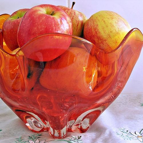 Jaren zeventig fruitschaal