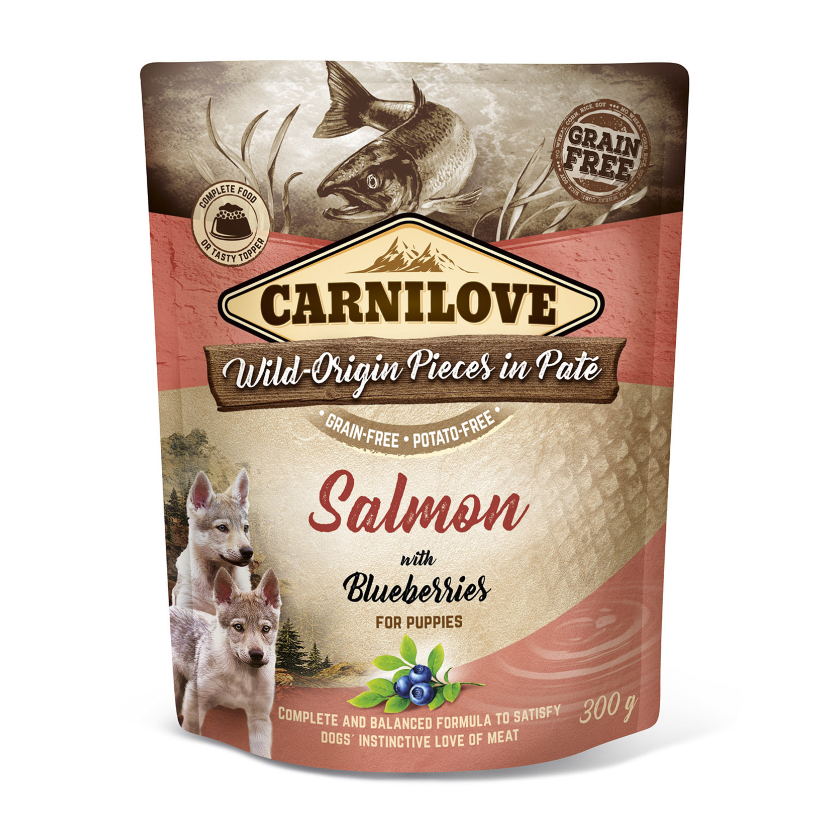Carnilove pouch Salmon with Blueberries for pups 300gr