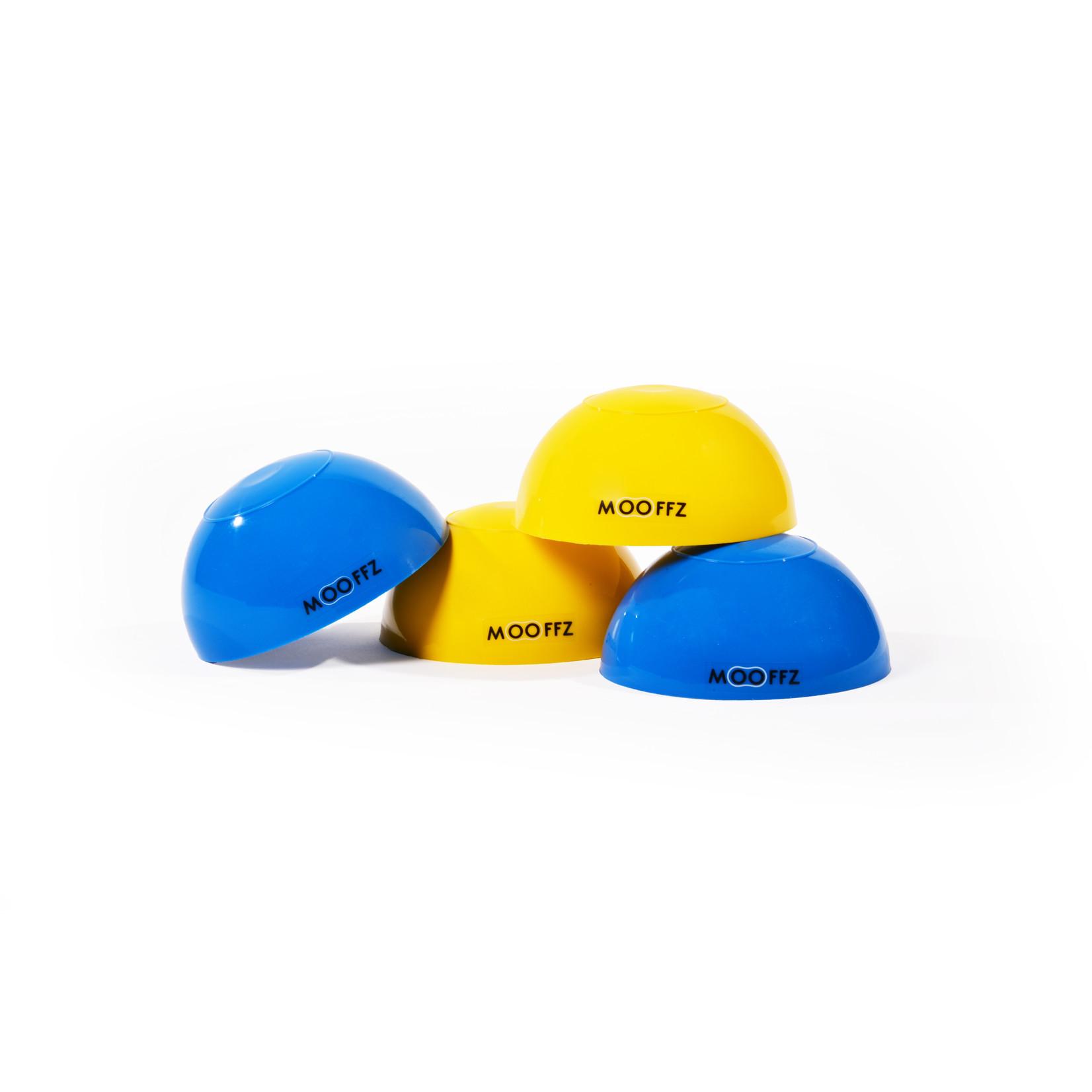 Mooffz stapstenen set van 4 (blauw/geel)