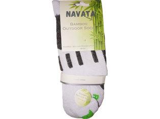 Bamboo outdoor sock white 1P 39-42