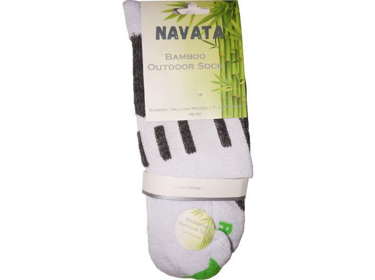 Navata Bamboo outdoor sock white 1P 39-42