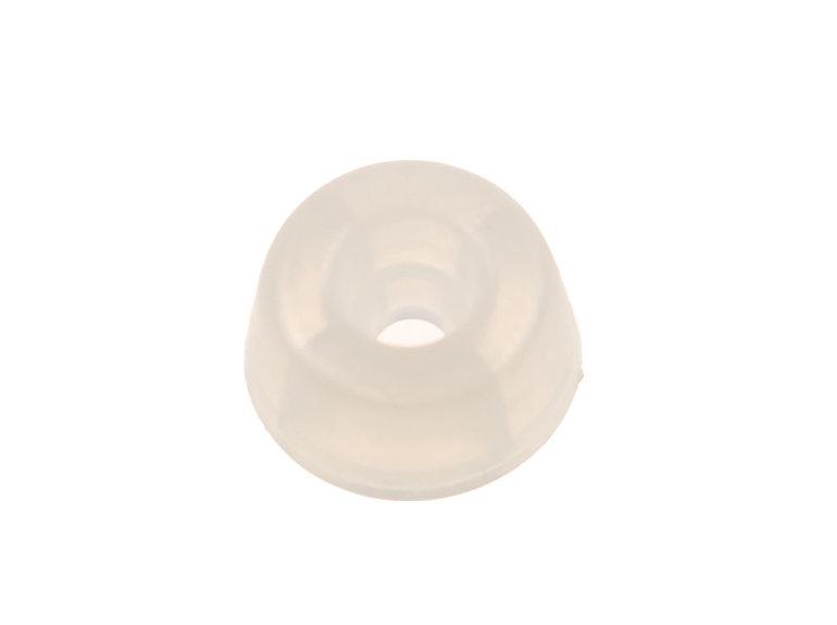 Verlofix Stootdop, kunststof transparant schroefbaar ø20x10mm