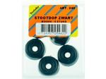 Verlofix Stootdop, kunststof zwart schroefbaar ø20x10 mm