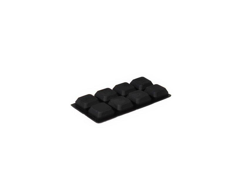 Verlofix Stootdopjes, zelfklevend zwart 18 x 18 mm