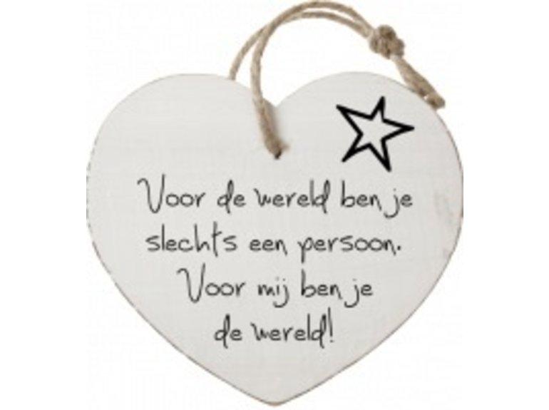 HW Voor de wereld ben je slechts….