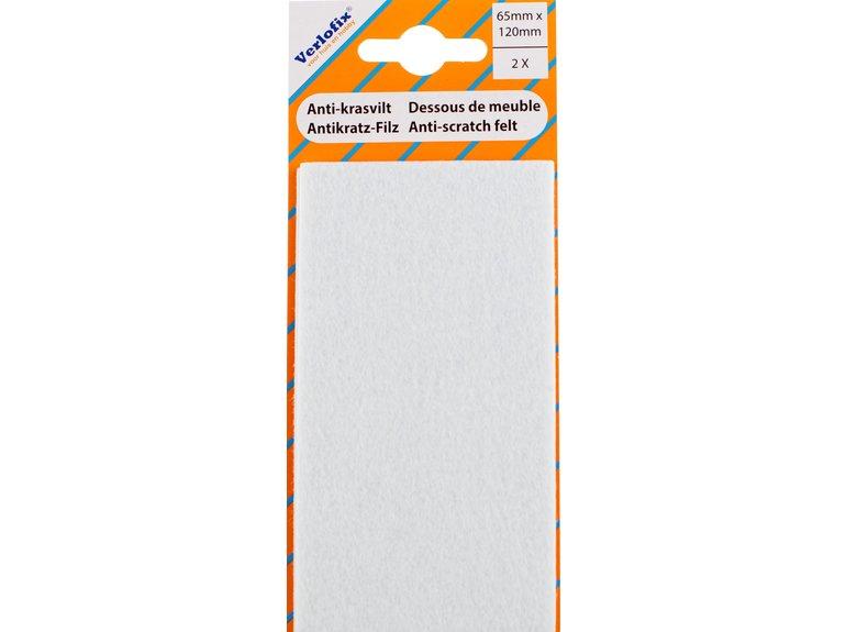 Verlofix Knipvilt, zelfklevend wit 65mm x 120mm voordeelpak