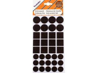 Anti-krasvilt, zelfklevend bruin assorti Ø20,28mm / 25x25mm