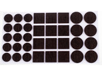 Verlofix Anti-krasvilt, zelfklevend bruin assorti Ø20,28mm / 25x25mm