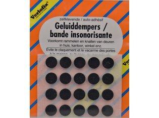 Geluiddemper, zelfklevend zwart ø10mm - vel á 20st.