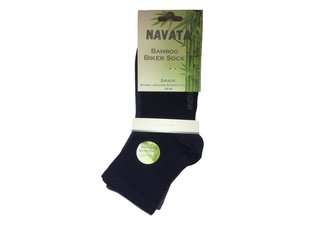 Bamboo biker sock mar/jeans 2P 35-38