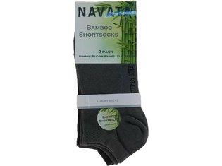 Bamboo short sock grey 2P 35-38