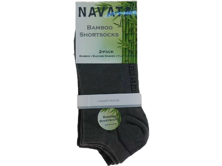 Navata Bamboo short sock grey 2P 35-38