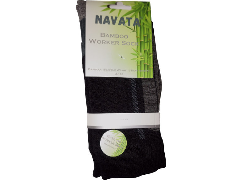 Navata Bamboo worker sock black 1P 39-42