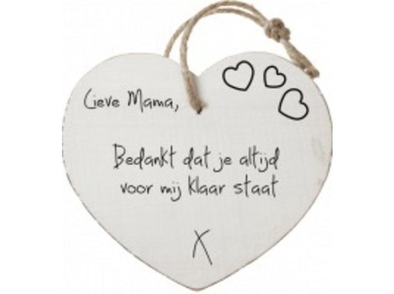 HW Lieve mama, bedankt dat je altijd…
