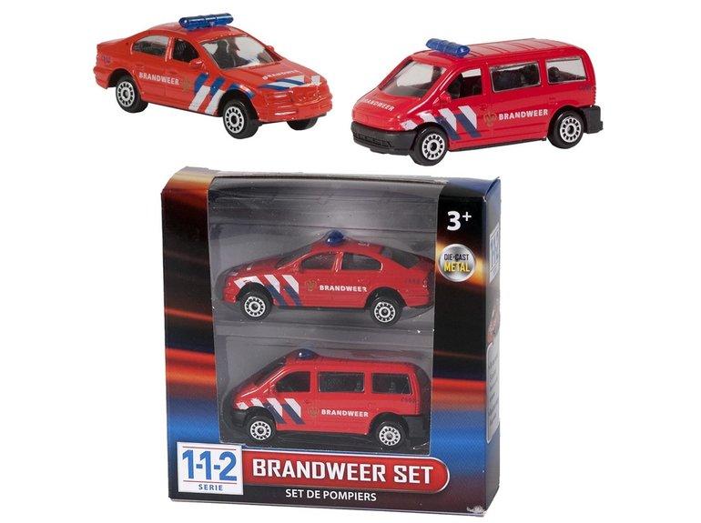 Speelgoed 112 Brandweer Set 2 Dlg.
