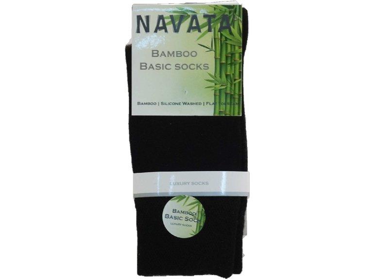 Navata Bamboo basic sock black 1P 35-38