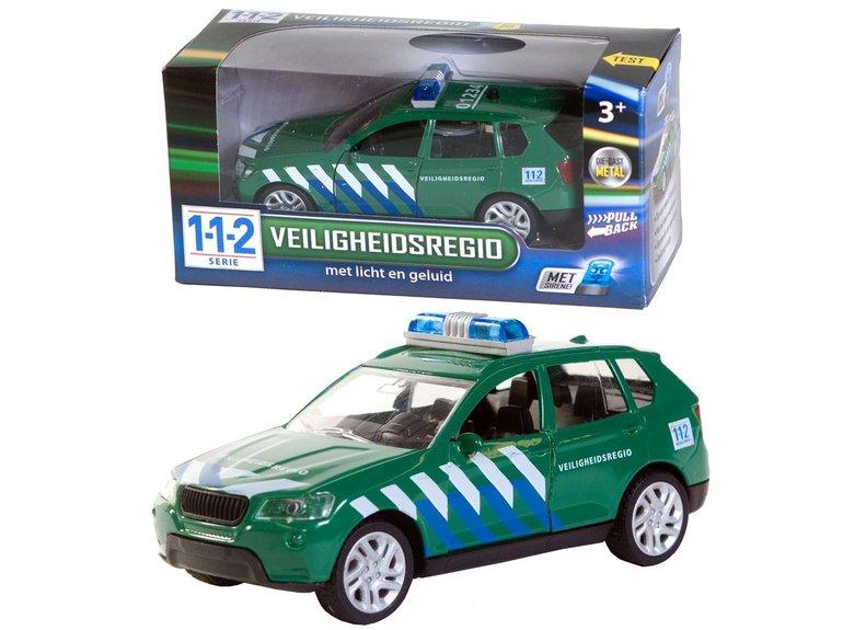 Speelgoed 112 Veiligheids Auto + licht/gel 1:43