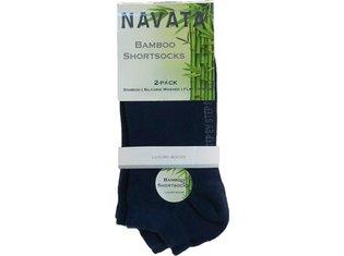 Bamboo short sock navy 2P 35-38