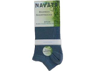 Bamboo short sock jeans 2P 35-38