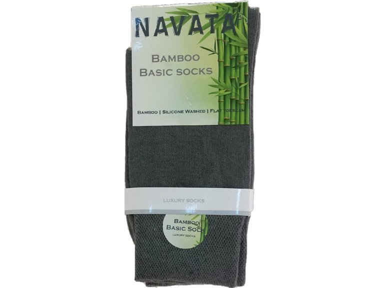 Navata Bamboo basic sock middle grey 1P 35-38