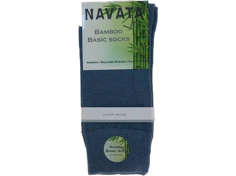 Navata Bamboo basic sock jeans 1P 35-38