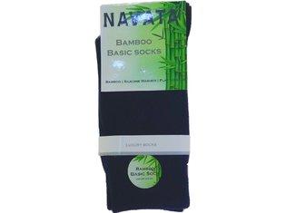 Bamboo basic sock navy 1P 35-38