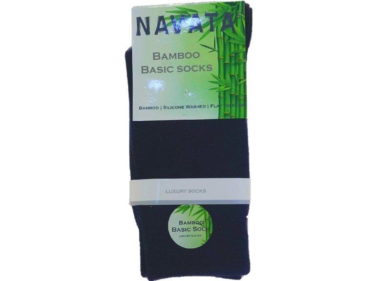 Navata Bamboo basic sock navy 1P 35-38