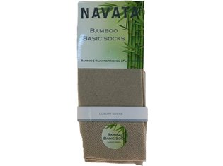 Bamboo basic sock dark beige 1P 35-38