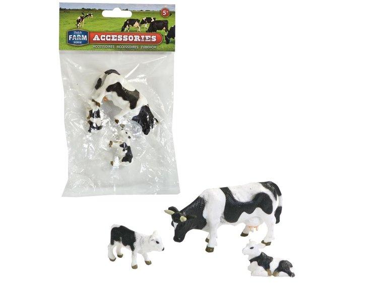 Speelgoed Dutch Farm Serie Koe met kalfjes set