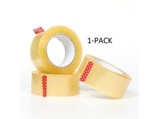 Verpakkingstape transparant 50mm x 66mtr - 1pack