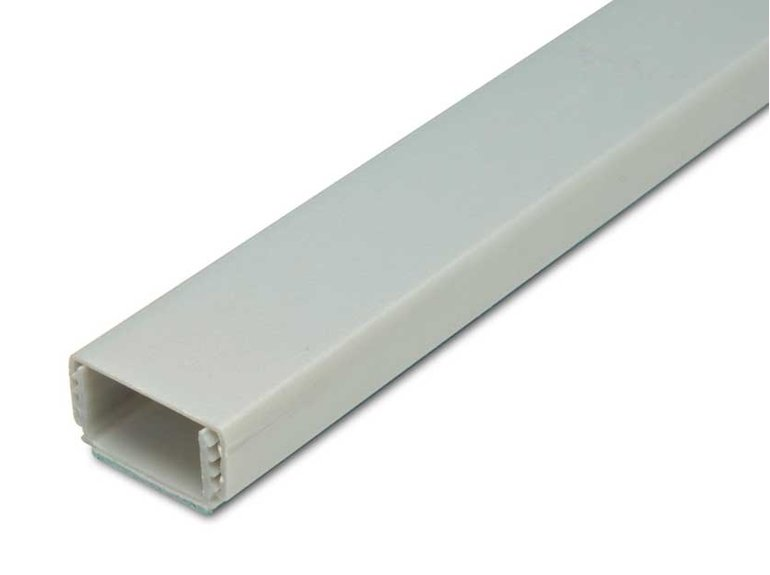 Klik kabelgoot 20x10/15mm zil(9006)